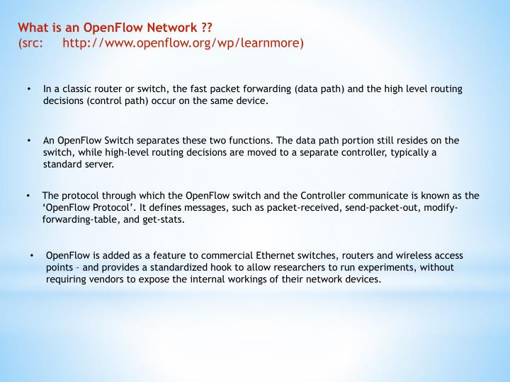 What is an OpenFlow Network ??