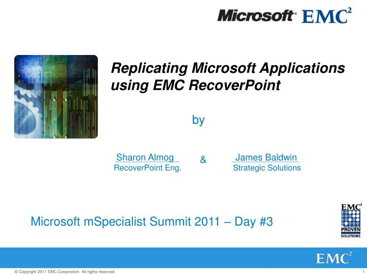 replicating microsoft applications using emc recoverpoint n.