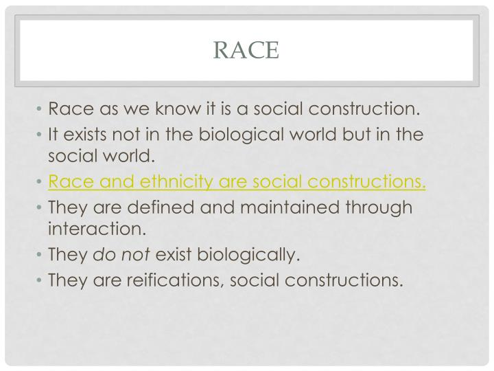 social construction of race definition