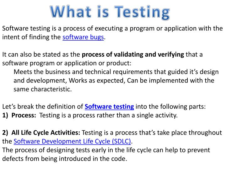 Ppt What Is Testing Powerpoint Presentation Free Download Id 2628751