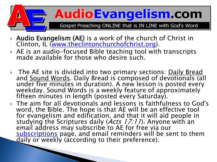 Audio Evangelism (AE)