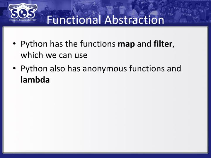 Functional Abstraction