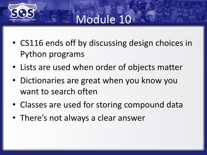 Module 10