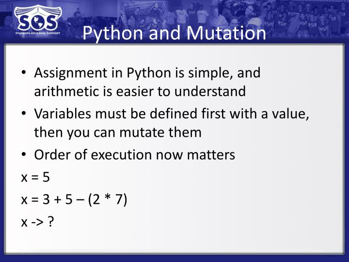 Python and Mutation