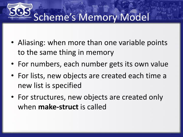 Scheme's Memory Model