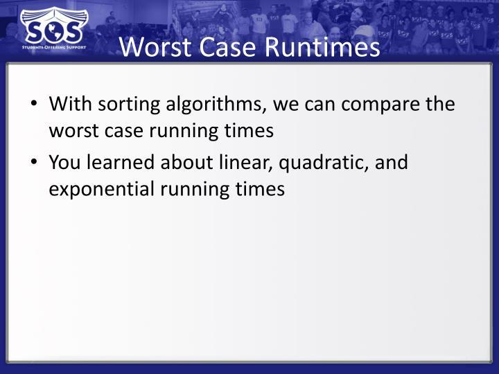 Worst Case Runtimes
