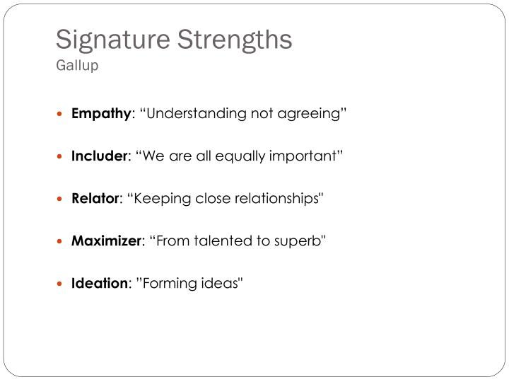 Signature strengths gallup