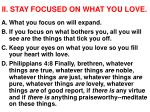 ii stay focused on what you love