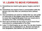 vi learn to move forward