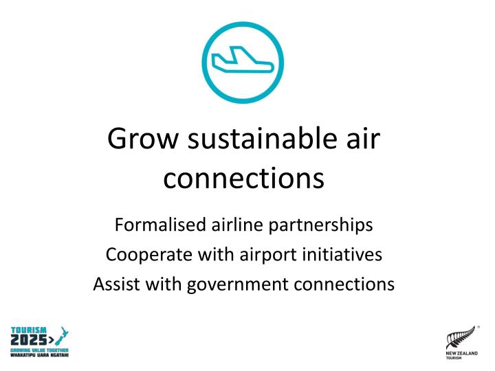 Grow sustainable air connections
