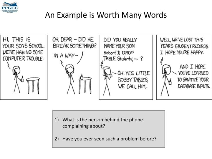 An example is worth many words