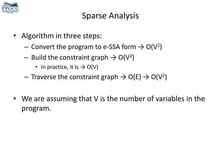 Sparse Analysis