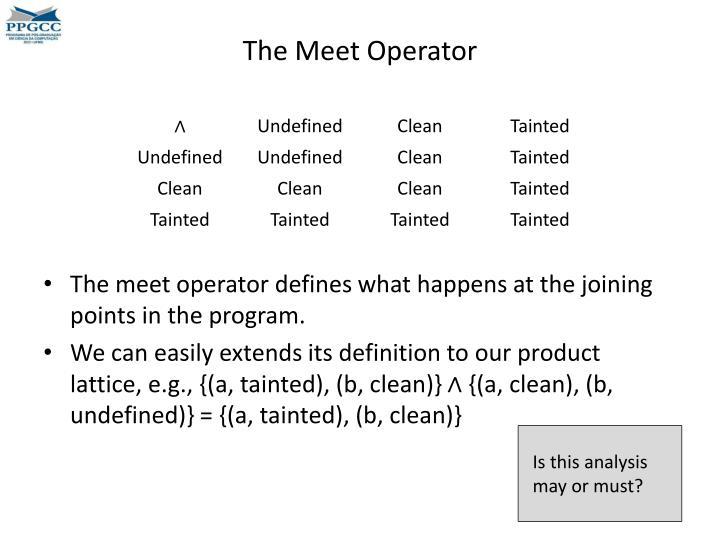 The Meet Operator