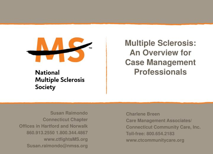 multiple sclerosis an overview for case management professionals n.
