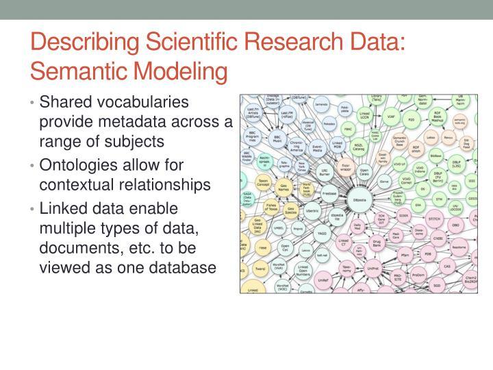 Describing Scientific Research Data: Semantic Modeling