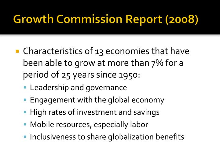 Growth commission report 2008
