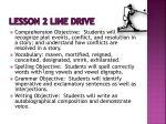 lesson 2 line drive