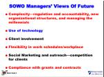 sowo managers views of future