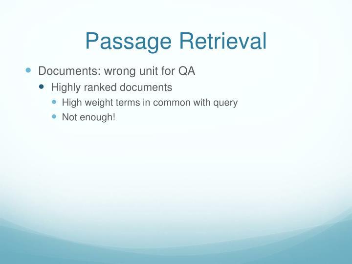 Passage Retrieval