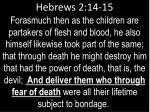 hebrews 2 14 15