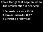 three things that happen when the resurrection is believed2