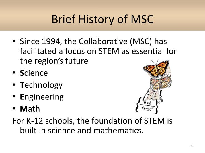 Brief History of MSC