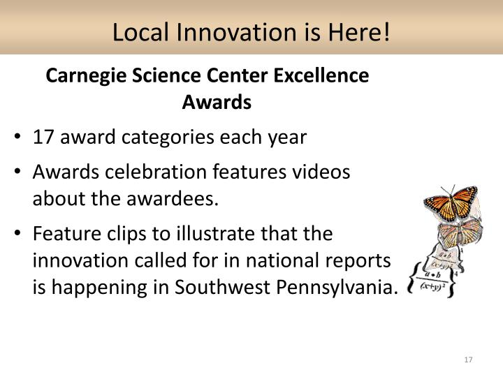 Local Innovation is Here!