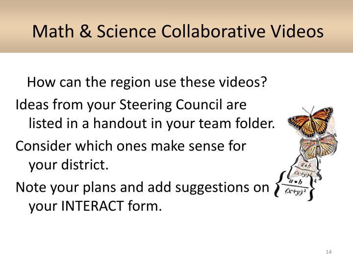 Math & Science Collaborative Videos