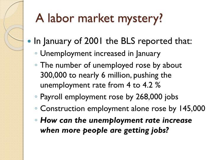 A labor market mystery?