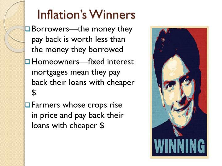 Inflation's Winners
