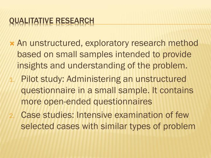 exploratory research method According to marshall & rossman (2010) a researcher can adopt three different kinds of research methods namely exploratory, descriptive and causal research the.