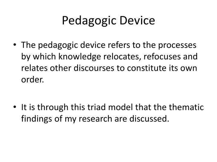 Pedagogic Device