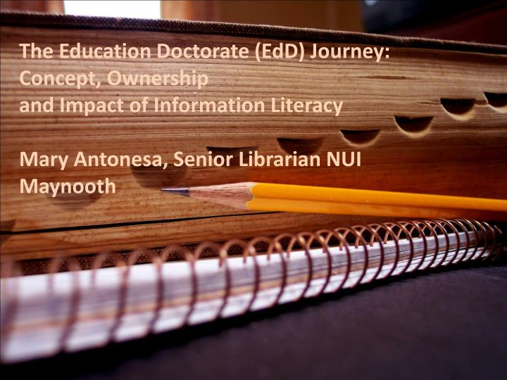 The Education Doctorate (