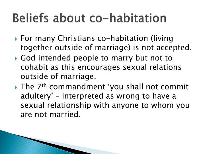 Beliefs about co-habitation