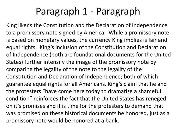Paragraph 1 - Paragraph