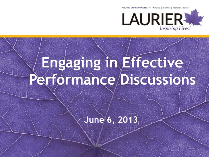 engaging in effective performance discussions n.