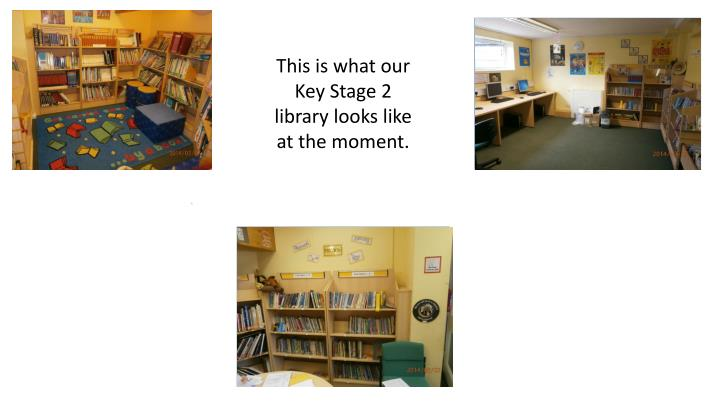 This is what our Key Stage 2 library looks like at the moment.