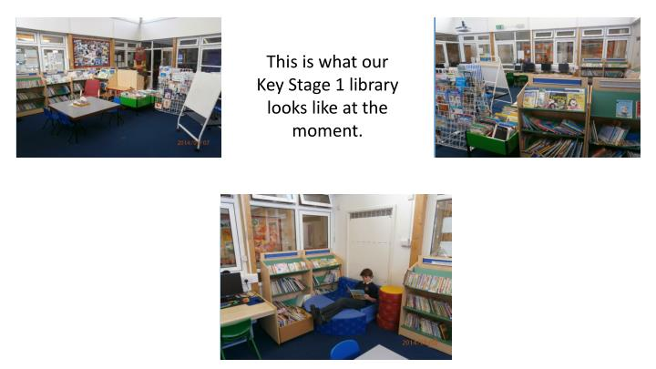 This is what our Key Stage 1 library looks like at the moment.