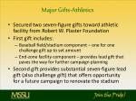 major gifts athletics