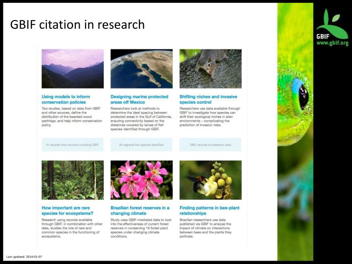 GBIF citation in research
