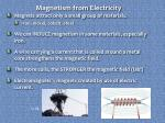 magnetism from electricity