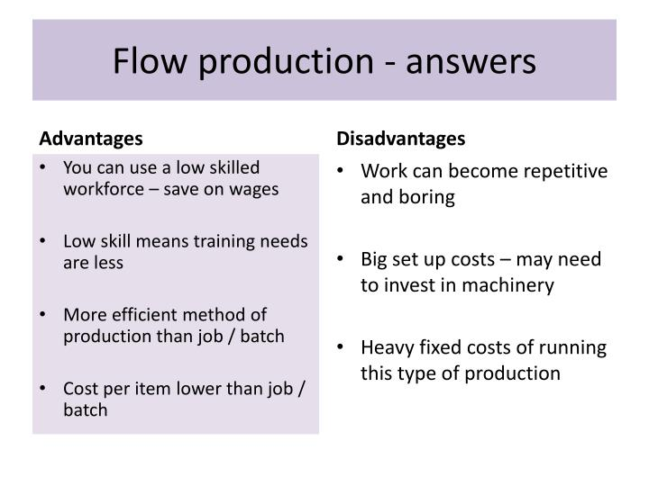 Flow production - answers