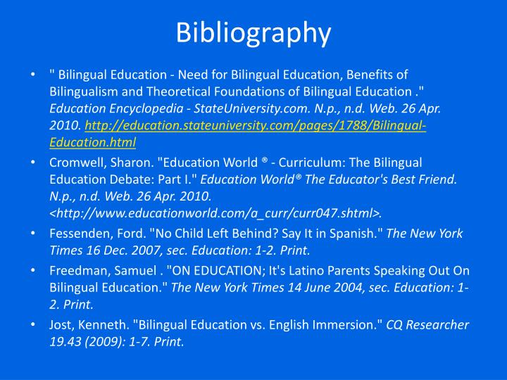 an analysis of a debate between bilingual education and english immersion programs Although the study found that students in english immersion programs have a better  bilingual education programs to  for education policy analysis.