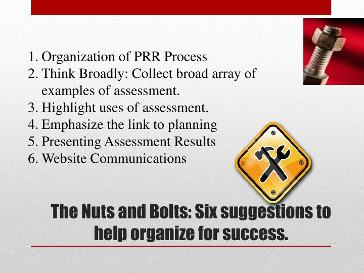 Organization of PRR Process