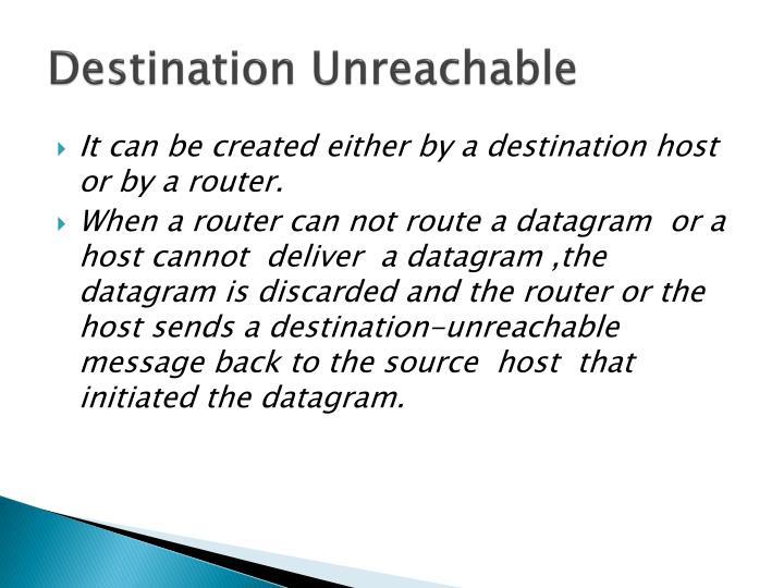 Destination Unreachable
