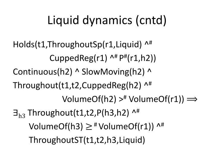 Liquid dynamics (