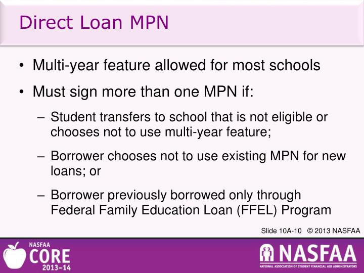 PPT - Federal Direct Loans: Reviewing Program Requirements and Calculating Loan Amounts ...