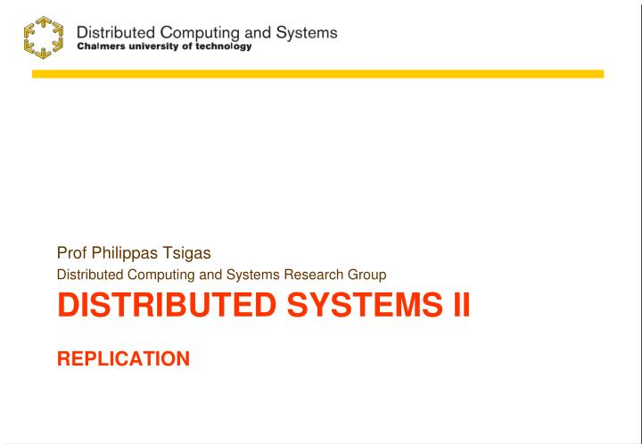 distributed systems ii replication n.