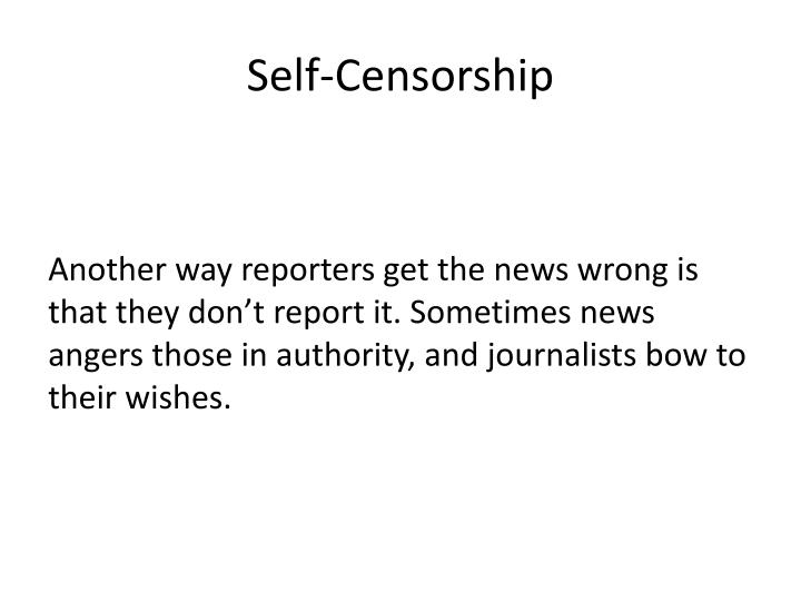 Self-Censorship