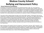 bledsoe county schools bullying and harassment policy